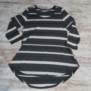 Maurices Striped Flowy 3/4 Sleeves Top